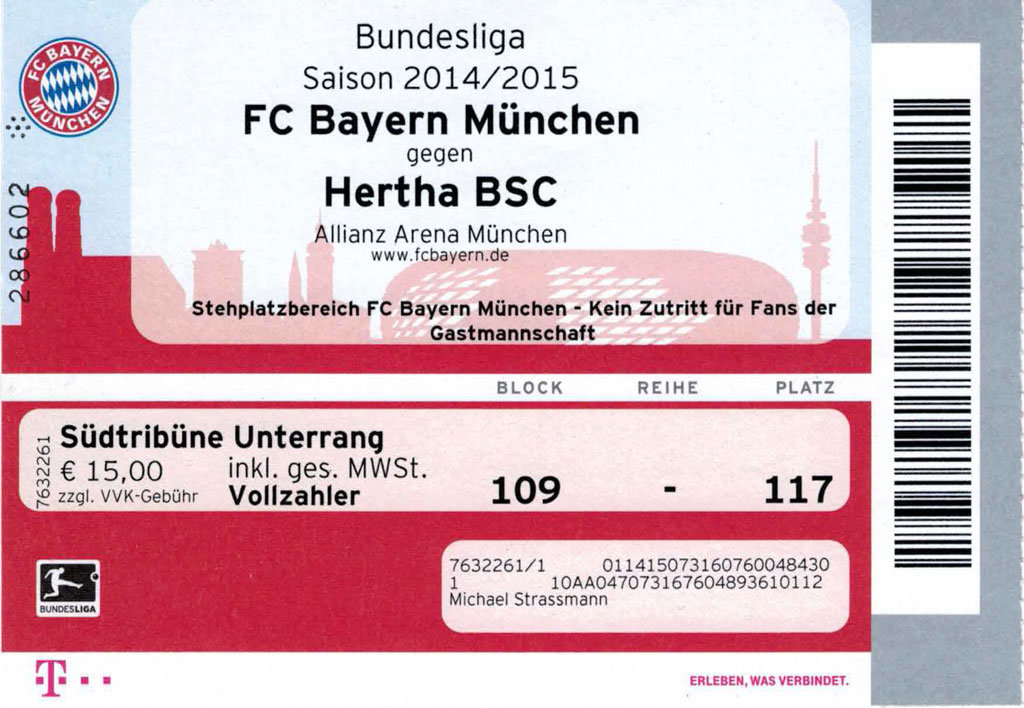 Fc Bayern Munchen Tickets Mit Hotel