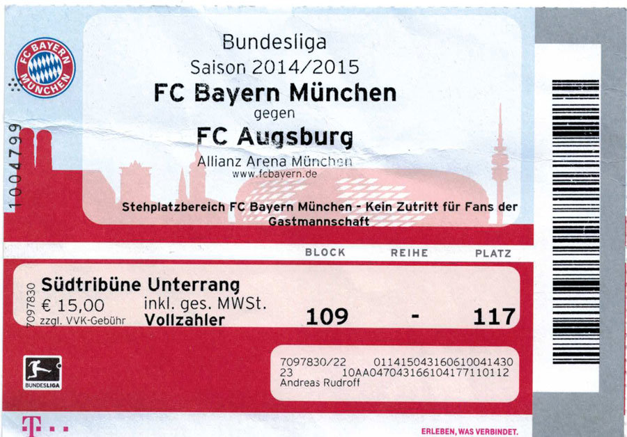 Fc Bayern München Fc Augsburg Am 09052015 Würmtal Suckers