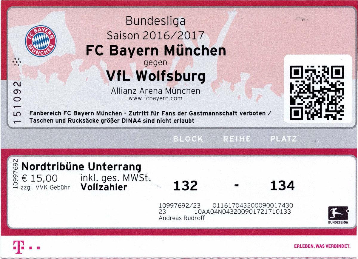 FC Bayern München – VfL Wolfsburg - 10.12.2016 | Würmtal ...