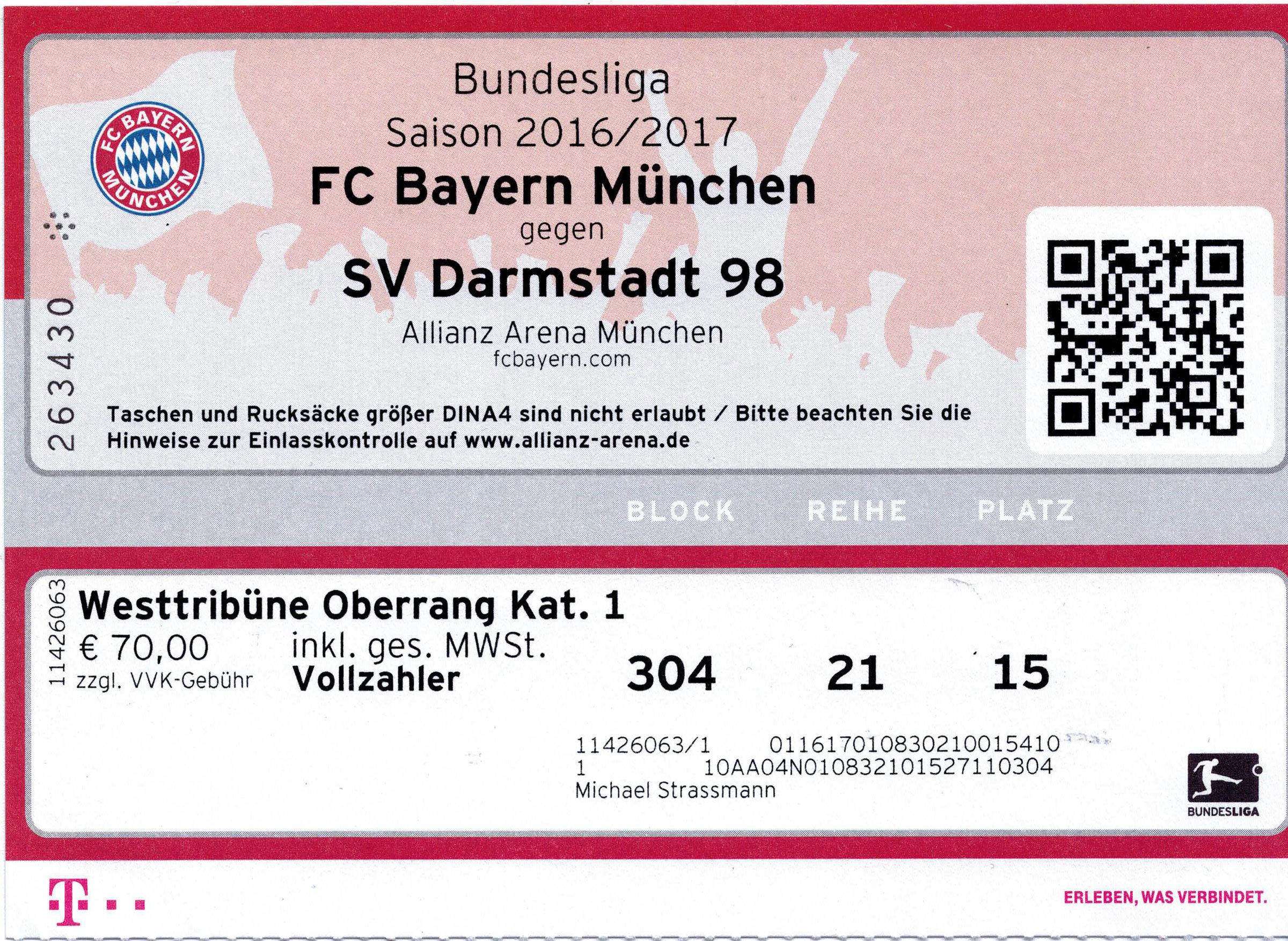 FC Bayern München – SV Darmstadt 98 - 06.05.2017 | Würmtal ...