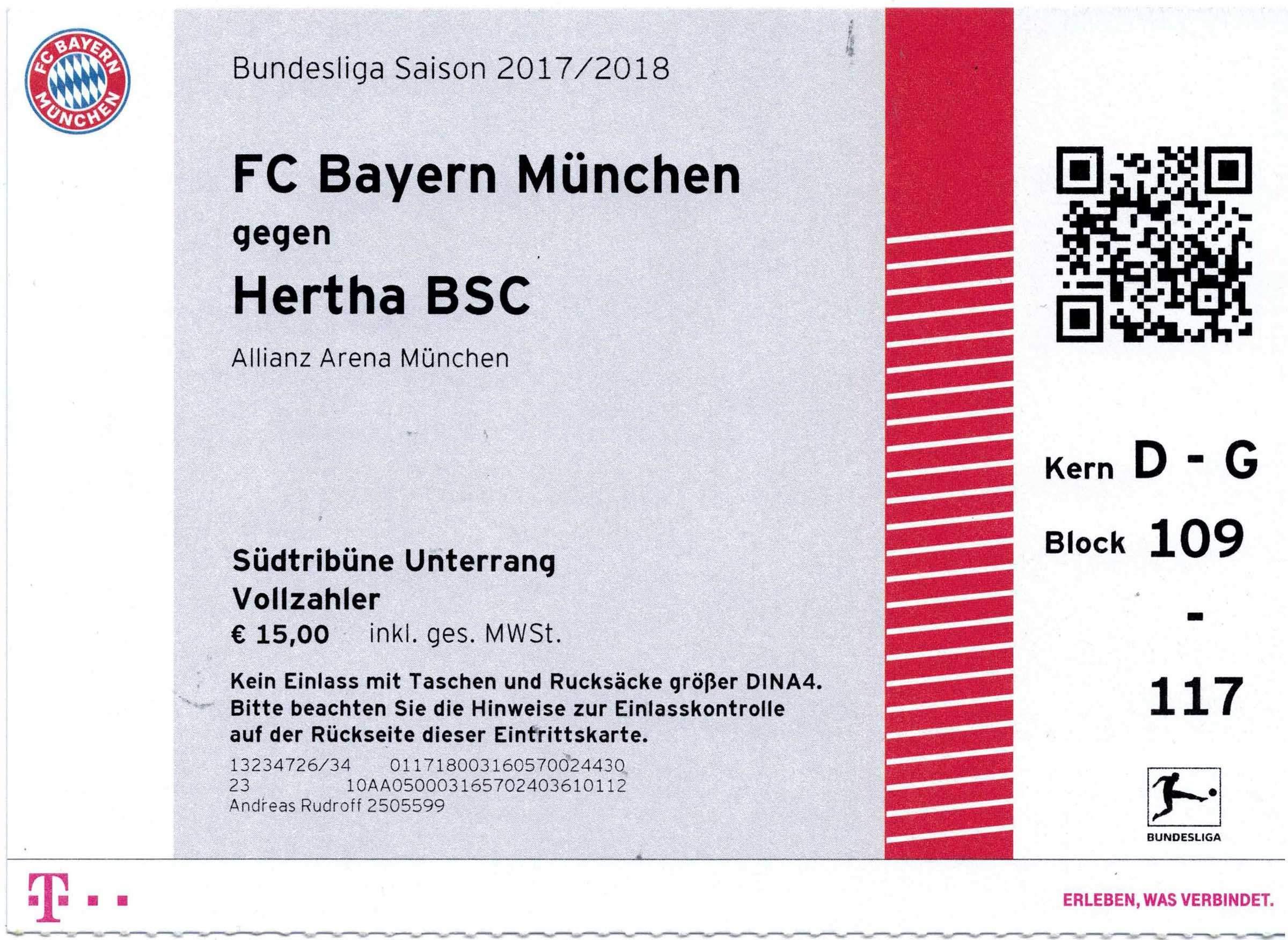 Eintrittskarten Fc Bayern München