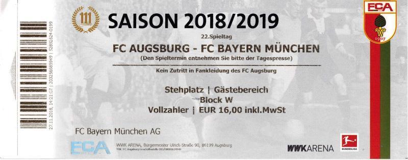 FC Augsburg - FC Bayern München am 15.02.2019