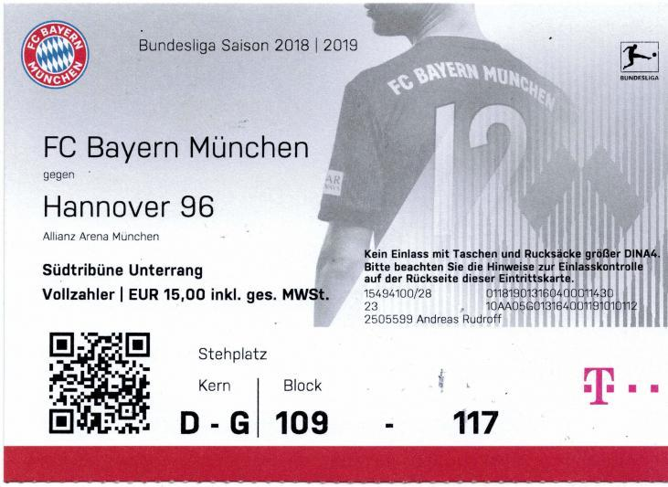 FC Bayern München – Hannover 96 - 04.05.2019