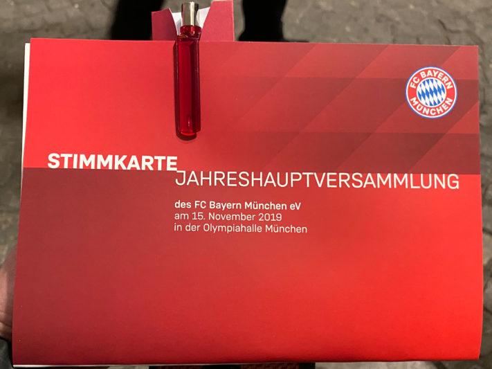 Jahreshauptversammlung 2019 des FC Bayern München e.V. am 15.11.2019 in der Olympiahalle München